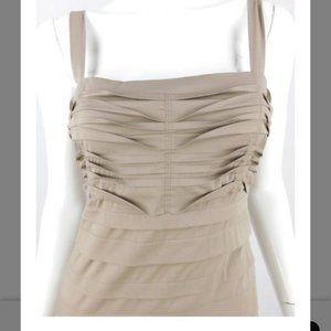 BCBGMaxAzria Pintuck Pleated Midi Dress, Sz 0